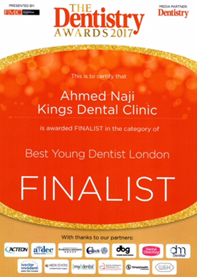 Best Young Dentist London (Dr Ahmed Naji)
