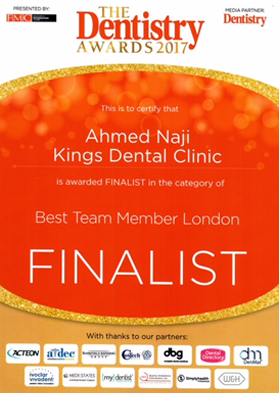 Best Team Member London (Dr Ahmed Naji)
